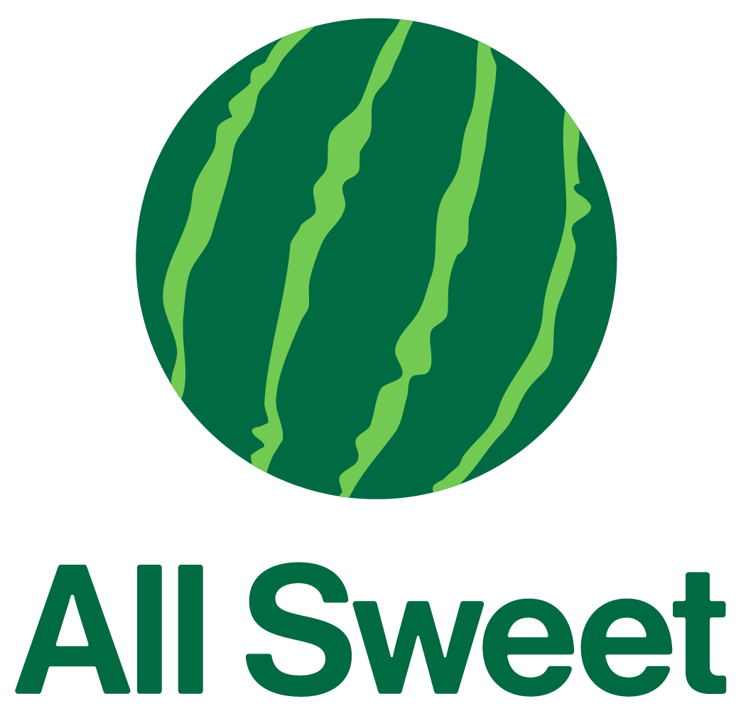 ALL SWEET logo - Actually a watermelon